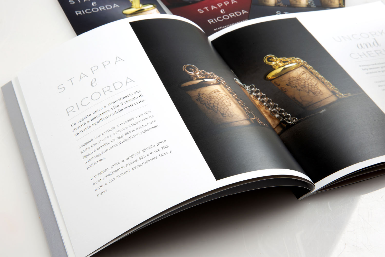 Dettaglio del catalogo realizzato per Luca Montagni, art direction di Myosign Annarita Bonanata