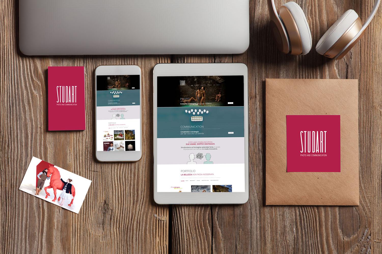 L'immagine coordinata di Studart, la brand identity è declinata su più supporti e in diversi formati, progettazione grafica di Myosign Annarita Bonanata